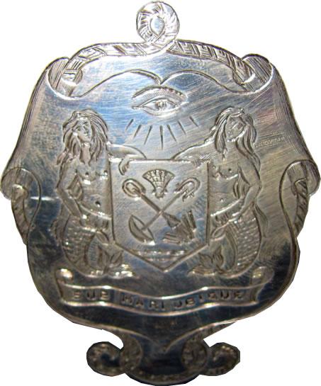 Crest Engraving on Rose Bowl